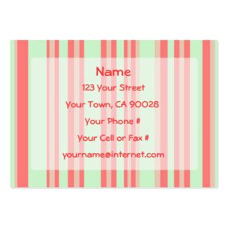 retro orange green stripes business card