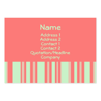 retro orange green stripes business card template
