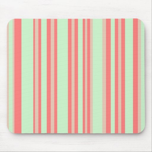 retro orange green stripes mouse pad