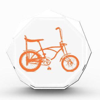 Retro Orange Krate Banana Seat Bike Acrylic Award