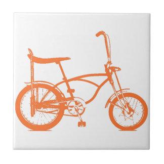 Retro Orange Krate Banana Seat Bike Tile
