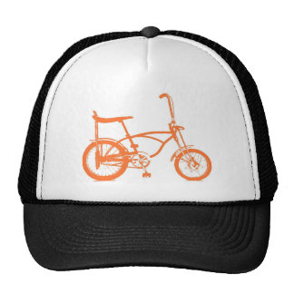 Retro Orange Krate Banana Seat Bike Trucker Hat