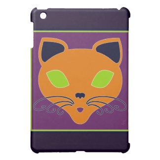 Retro Orange Lime Halloween Cat iPad Mini Cases