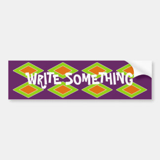 Retro Orange Lime Harlequin Bumper Sticker