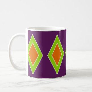Retro Orange Lime Harlequin Coffee Mug