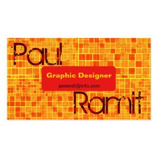 Retro Orange Mosaic Eye Popping Business Card