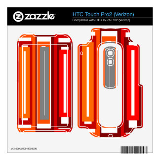 Retro orange red gray and black rectangles HTC touch pro2 skins