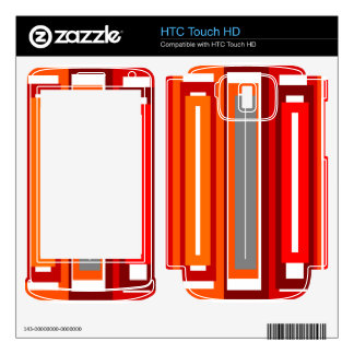 Retro orange red gray and black rectangles HTC touch HD skins