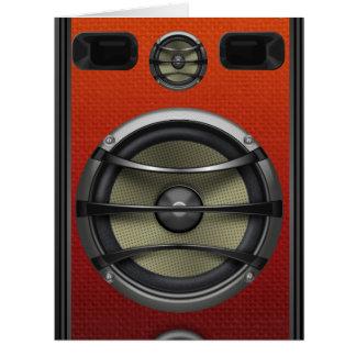 Retro Orange Speaker Look Card