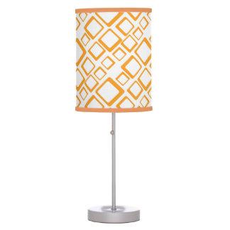 Retro Orange Squares On White Table Lamp