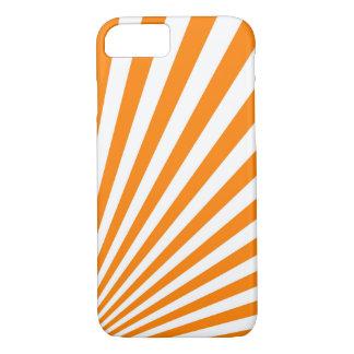Retro Orange Sun Rays Background iPhone 8/7 Case
