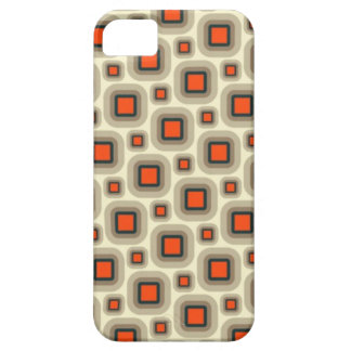 Retro Orange & Tan Squares iPhone 5 Case