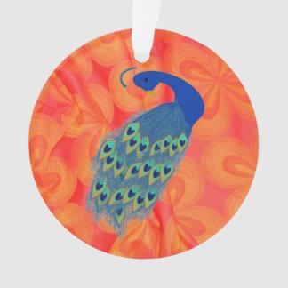 Retro Orange with Peacock Ornament