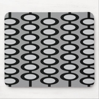 Retro Orb Pattern - gray and black mousepad