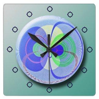 Retro Orbit Abstract Wall Clock