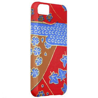 retro oriental red blue gold vintage iphone 5 case