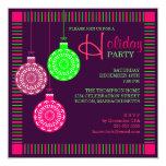 Retro Ornament Holiday Party Invitation