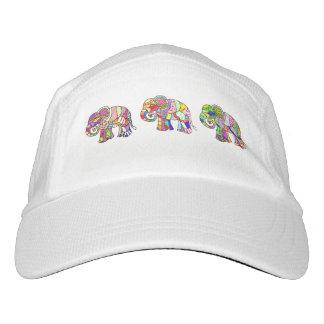 Retro ornamental psychodelic colorful elephants headsweats hat