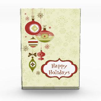 Retro Ornaments and Snow - Happy Holidays Awards