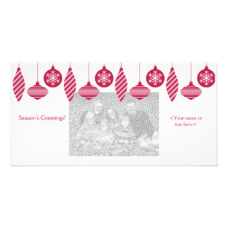 Retro Ornaments Christmas Photo Card