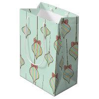 Retro Ornaments Gift Bag Medium Gift Bag