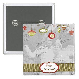 Retro Ornaments Photo Frame Template 2 Inch Square Button