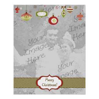 Retro Ornaments Photo Frame Template Poster