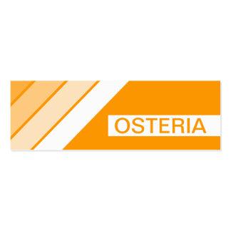 retro OSTERIA Mini Business Card