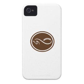Retro oval de la tira de Mobius de la cola de la iPhone 4 Case-Mate Coberturas