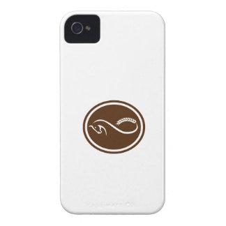 Retro oval de la tira de Mobius de la cola de la iPhone 4 Protectores