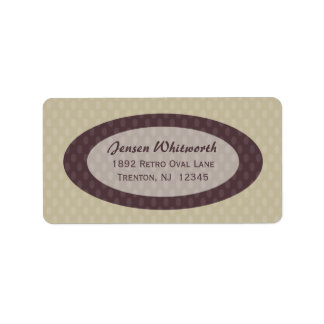 Retro Ovals Address Labels - Ash