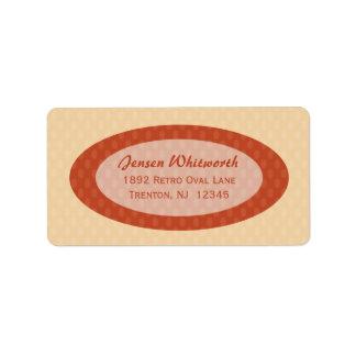 Retro Ovals Address Labels - Blush