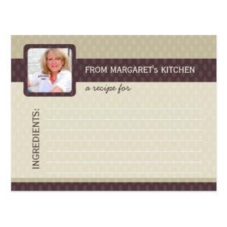 Retro Ovals Photo Recipe Cards - Ash Post Card