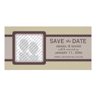 Retro Ovals Save the Date Photo Card - Ash