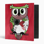 Retro Owl 3 Ring Binders