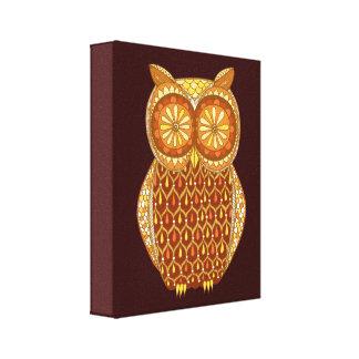 Retro Owl Art Canvas Print