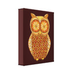 Retro Owl Art Gallery Wrapped Canvas