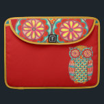 "Retro Owl Art Macbook Pro Sleeve<br><div class=""desc"">This retro owl Art Macbook Pro Sleeve features a funky,  detailed drawing of an groovy owl drawn in a folk art style.  This retro owl is the original art of Thaneeya McArdle.</div>"
