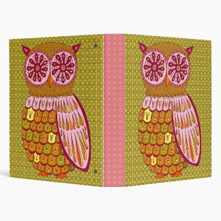 Retro Owl Binder