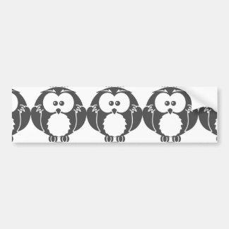 Retro Owl Bumper Stickers