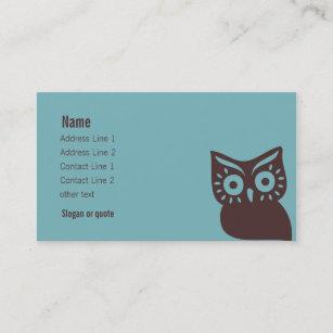 Retro owl business cards templates zazzle retro owl business card colourmoves