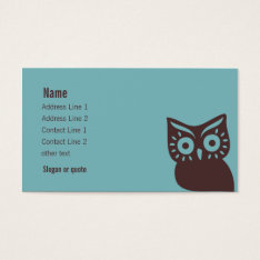 Retro Owl Business Card at Zazzle
