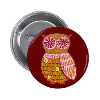 Retro Owl Button