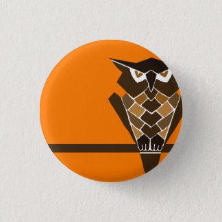Retro Owl button (brown)