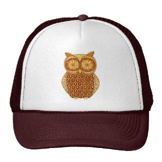 Retro Owl Cap Trucker Hat