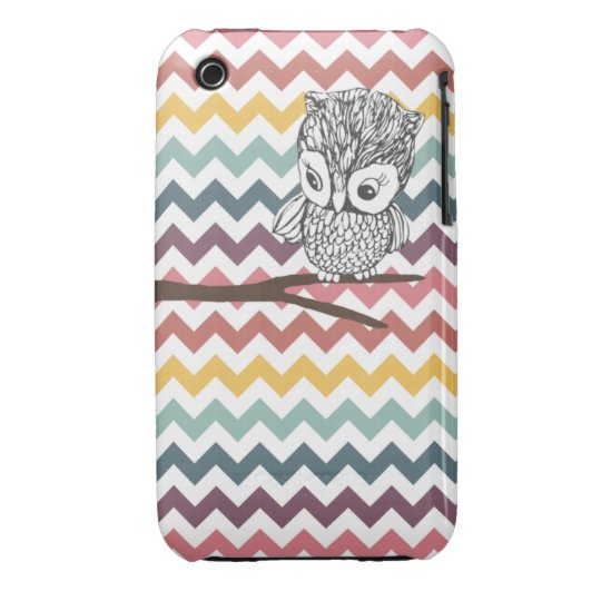 Retro Owl Chevron iPhone 3G/3GS Case