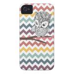 Retro Owl Chevron iPhone 4/4s Case