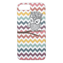 Retro Owl Chevron iPhone 7 case