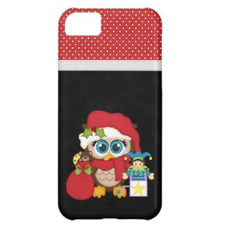 Retro Owl Christmas iPhone 5C Cover