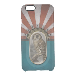 Retro Owl Clear iPhone 6/6S Case